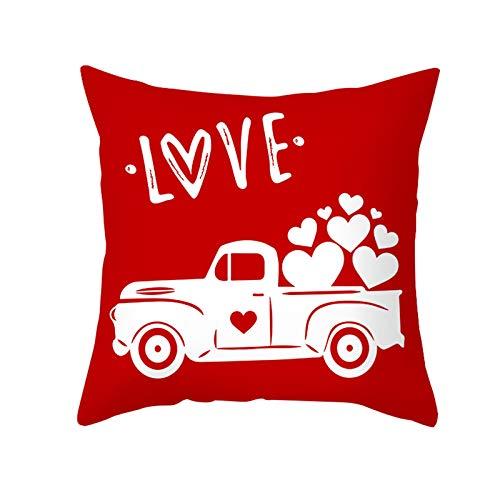 Fundas de almohada de San Valentín de 45,7 x 45,7 cm – Serie de fundas de cojín de San Valentín con cremallera personalizada cuadrada