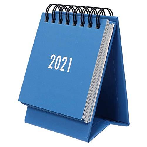 Andifany Calendario de Escritorio de 2020 a 2021 Calendario Mensual Abatible de Escritorio Adecuado para la Escuela, la Oficina la Casa (Azul)