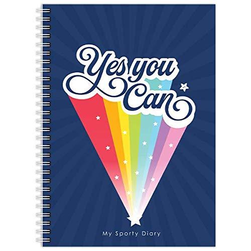 My Sporty Diary   Sporttagebuch   12 Monate   Übungs- & Fitness-Tracker   Handgemacht   A5 (5.8