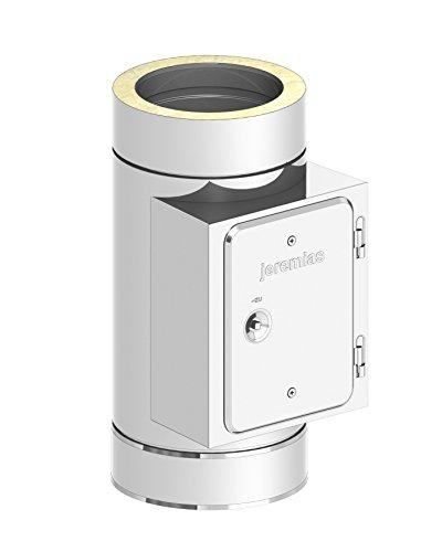 Reinigungselement für doppelwandige Schornsteine DW; Innen/Außen je 0,5 mm Wandstärke; Ø 115mm Innendurchmesser, Edelstahl