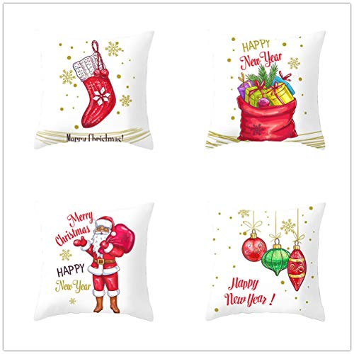 4 Pack Cushion Covers Throw Pillow Case Velvet Double Sided Soft Square Decorative Pillowcase Home Decor for Sofa Car Living Room with Invisible Zipper E5445 55x55cm/21.5x21.5in