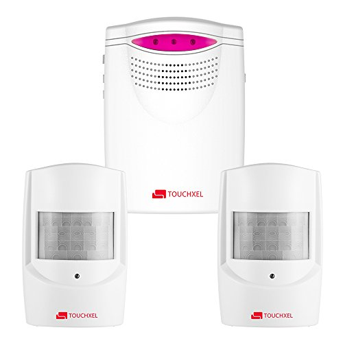 Wireless Home Security Alarm System, TOUCHXEL Driveway Alert Kit with 1 Receiver and 2 Weatherproof...