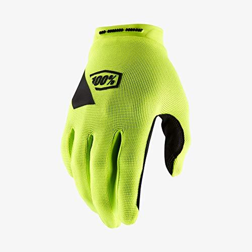 100 Percent Ridecamp Glove Fluo Yellow-LG, Guanti per Occasioni Speciali Uomo, Amarillo, Mediano