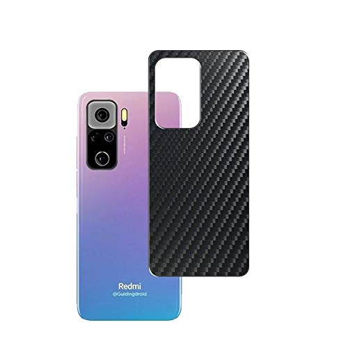 VacFun 2 Piezas Protector de pantalla Posterior, compatible con Xiaomi Redmi K40, Película de Trasera de Fibra de carbono negra