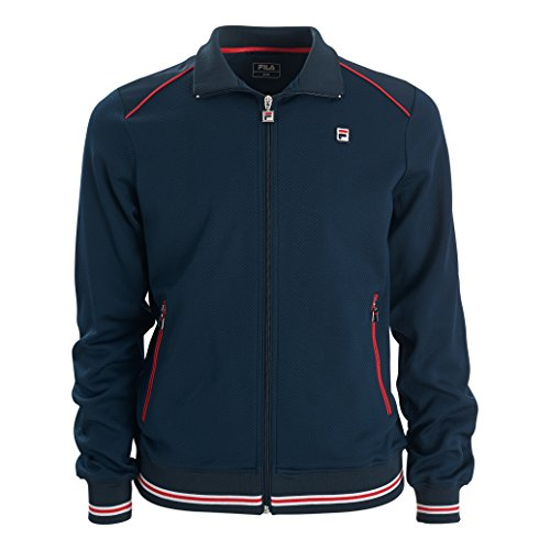 Fila Herren, Joe Trainingsjacke Dunkelblau, Weiß, XL Jacken