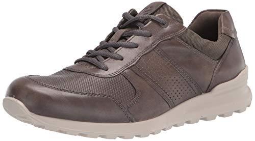 ECCO Zapatillas de entrenamiento perforadas premium Cs20 para hombre, gris (Gris cálido/gris cálido.), 39.5/40 EU