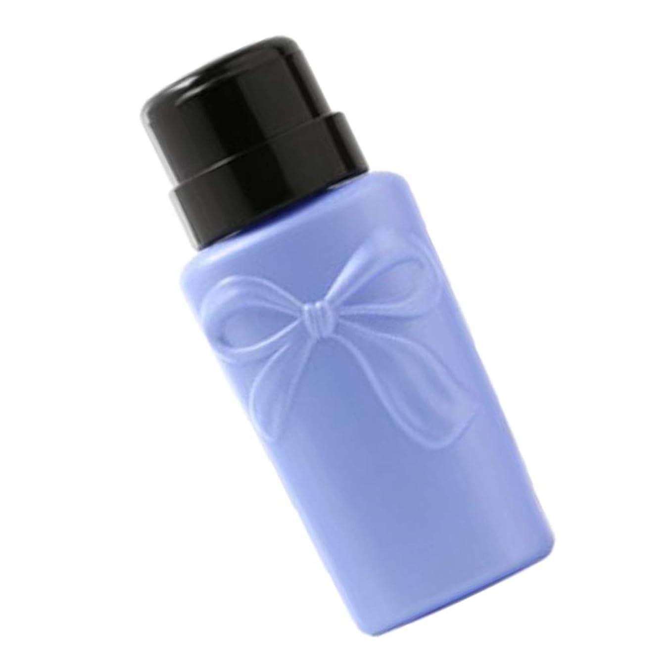 悲劇的な有益機関B Blesiya 2カラー ネイルポリッシュリムーバー ポンプボトル プッシュボトル 230ミリリットル - ブルー