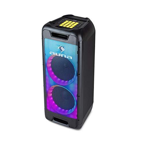 auna Clubmaster DJ - Altavoz Bluetooth, 120 W máx., Subwoofer de 8
