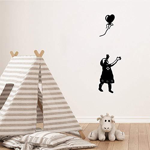 WERWN Niña Creativa recogiendo la Bola Sala de Estar Pegatinas de Pared Mural decoración de la Pared