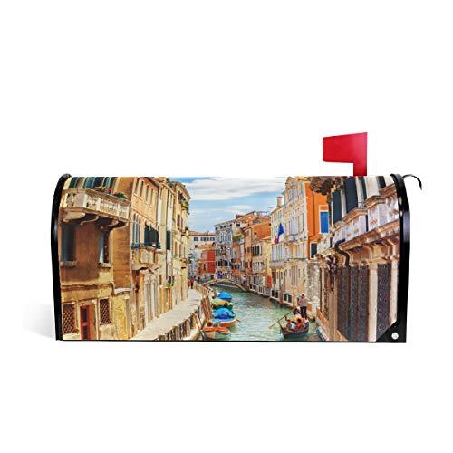 ZZKKO Italië Venetië Stad Magnetische Postbus Cover Wikkel Post Brievenbus Cover voor Buiten Tuin Home Decor Grote Grootte 25,5 x 20,8 Inch 20.8
