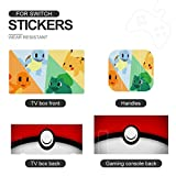 Poke-mon Pikachu And Squirtle Pokeball Switch Skin Sticker Cute Switch Lite Accessories Cover Case Set Pink Protective Film Anti-Scratch For Girls Boys Man Women