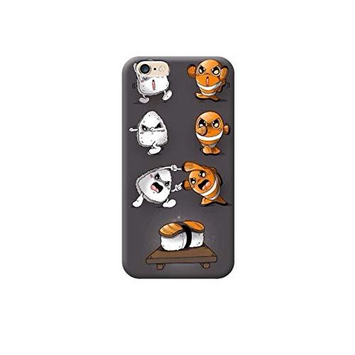 TheBigStock Cover Custodia per Tutti Modelli Apple iPhone x 8 7 6 6s 5 5s Plus 4 4s 5c TPU - AAB 19 Fusione Sushi, iPhone 8