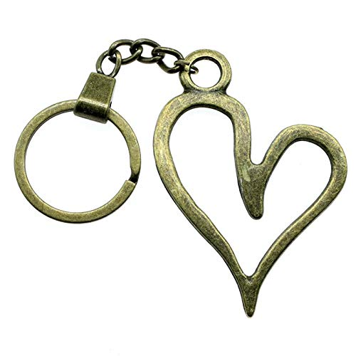 PEIPONG Men Key Chain Party Gift Keychains 66X46Mm Big Hollow Heart Key Rings