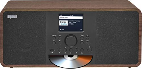 IMPERIAL DABMAN i205 CD internetradio/DAB+ (Stereo geluid, FM, CD-speler, WLAN, LAN, Bluetooth, streamingdiensten (Spotify, Napster enz.). incl. voeding) bruin