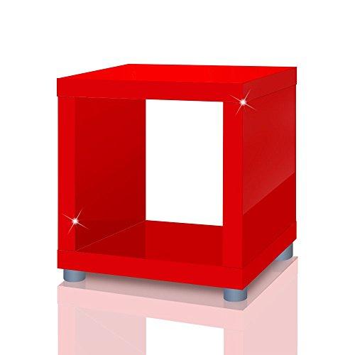 Mixibaby plankkkubus Mexx, bijzettafel, doos, rek, kubus, kubus in 4 kleuren B-product