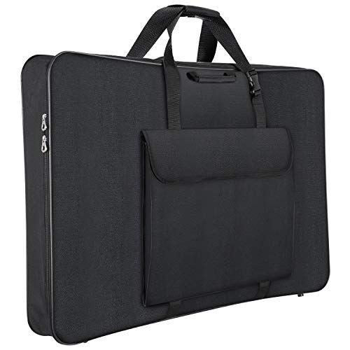 1st Place Products Premium Art Portfolio Case - 24 x 36 Inches Soft Sided - Water Resistant - Carry All - Great for LCD Screens, Monitors & TVs - Shoulder Straps & Carry Handle