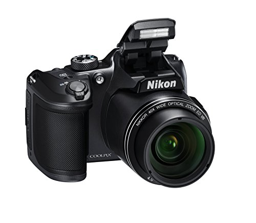 Nikon Coolpix B500 Fotocamera Digitale Compatta, 16 Megapixel, Zoom 40X, VR, LCD Inclinabile 3', Full HD, Bluetooth, Wi-Fi, Nero [Nital Card: 4 Anni di Garanzia]