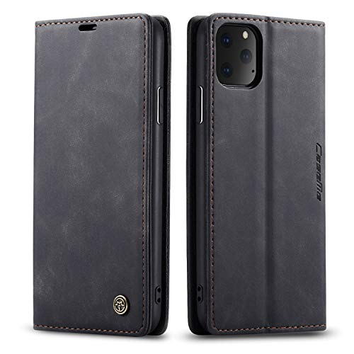 QLTYPRI Case for iPhone 11 Pro, Vintage PU Leather Wallet Case Card Slot...