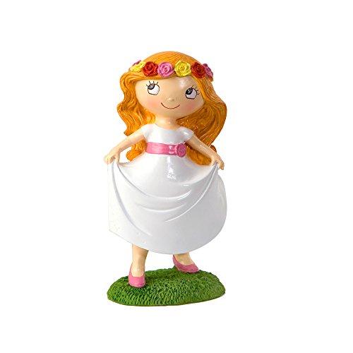 Mopec Y978 Figura de Pastel para comunión, Resina, Blanco, 8.5 x 10.7 x 17.5 cm