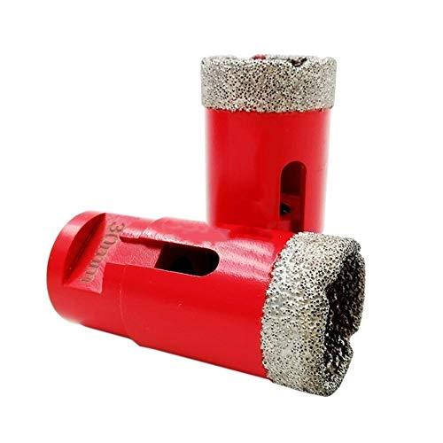 Esuhuang 30 mm de vacío con soldadura fuerte de perforación de diamante broca de mármol granito agujero de sierra bits de núcleo de perforación baldosas de porcelana M14 Thread Corona Broca industrial