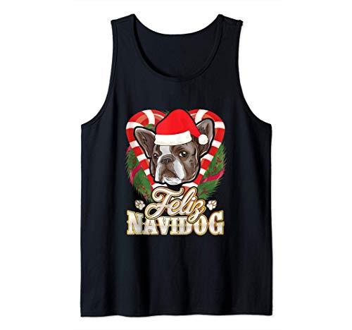 Feliz Navidog Französische Bulldogge Weihnachtsmann Frenchie Tank Top