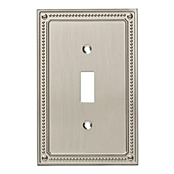 Franklin Brass W35058-SN-C Classic Beaded Single Switch Wall Plate/Switch Plate/Cover Satin Nickel
