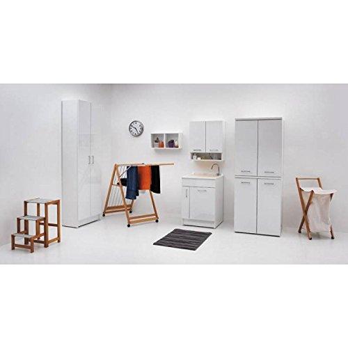 Wastafel met meubel, JOLLYWASH 50 x 45 x 86 cm, met wasmand, Colavene