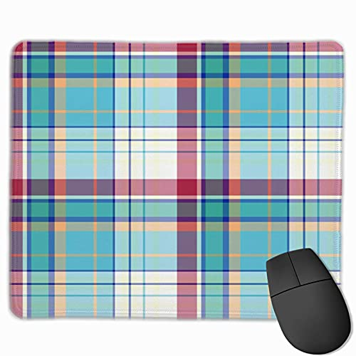 Gaming-Mauspad, Premium-strukturierte Mausmattenpads, niedliches Mousepad für Spieler, Büro und Heim Celtic Abstract Madras Plaid Pattern Britain Check