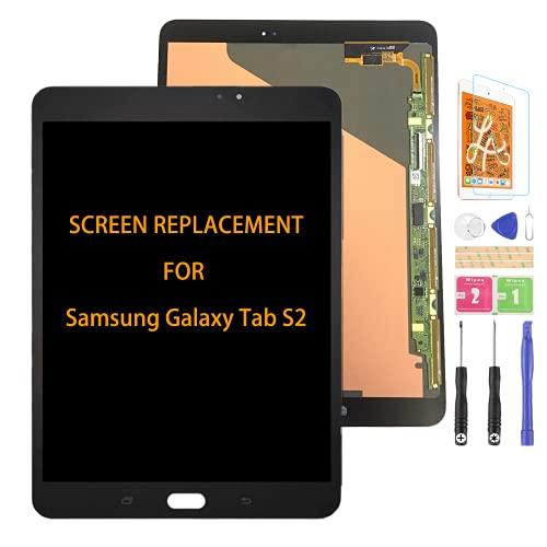SRJTEK Compatible para Samsung Galaxy Tab S2 Pantalla de repuesto Asamblea para SM-T810 Sensor de pantalla táctil SM-T815 SM-T813N SM-T819N con kits (sin botón de inicio)