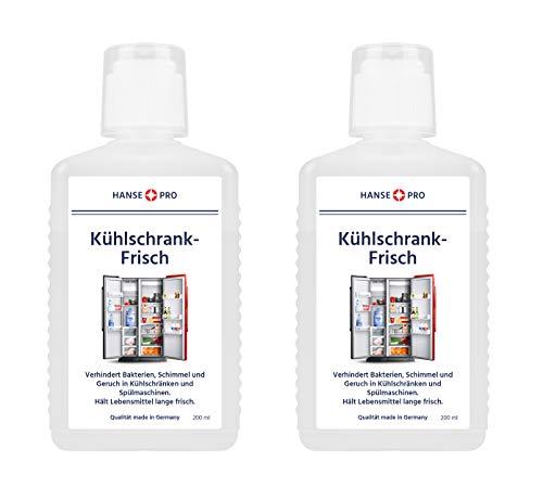 Hansepro Kühlschrank-Frisch I Kühlschrank-Frische I Frischer Geruch I Kühlschrank länger frisch halten I gegen Gerüche, Feuchtigkeit, Schimmel und Bakterien (2 x 200 ml)