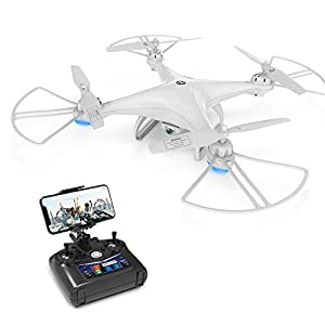 Drone with Camera, Holy Stone HS110D Drone for Beginners with 720P HD FPV Camera 120? FOV RC Quadcopter for Kids and Adults with Altitude Hold, Headless Mode, 3D Flips and Modular Battery from DEERC