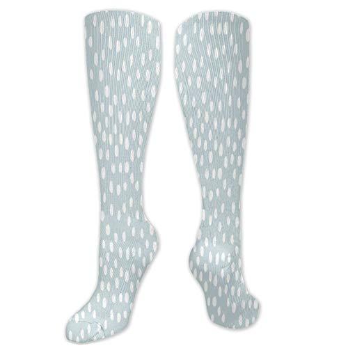 Calcetines de compresión suaves con lunares azules pintados, para mujeres y hombres, ideales para correr, ciclismo, atletismo