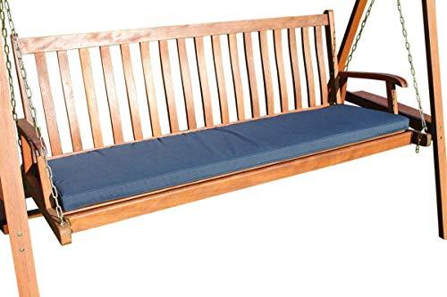Garden Market Place Garden Market Place Sitzkissen für 3-Sitzer-Hollywoodschaukel oder große Gartenbank, Marineblau, blau, 95 X 45 X 35
