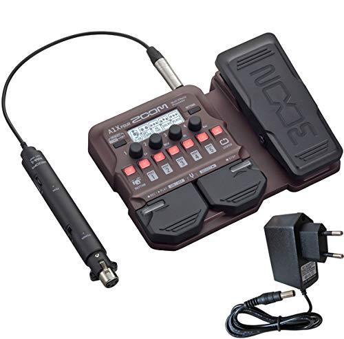 Zoom A1X Four Effektgerät für akustische Instrumente + keepdrum Netzteil 9V