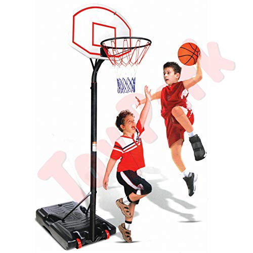 Toy Park Height Adjustable Metal Indoor/Outdoor Basketball Ring Pole Stand for Kids,Adults (8.3 ft to 10.5ft)