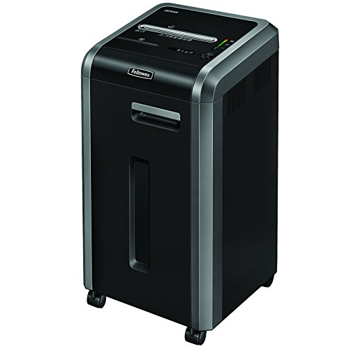 Fellowes Powershred 225Mi 100% Jam Proof 16-Sheet Micro-Cut Commercial Grade Paper Shredder (4620001), Black