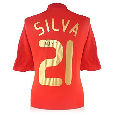 exclusivememorabilia.com Camiseta de fútbol de España 2007-09 firmada por David Silva