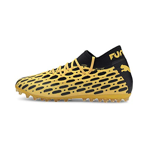 PUMA Future 5.2 Netfit MG, Scarpe da Calcio Uomo, Giallo (Ultra Yellow Black), 43 EU