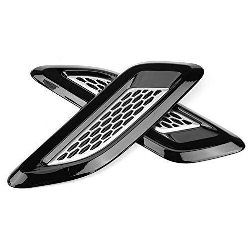 Ymiko Rejillas de ventilación para capó, ventilación Exterior, Salida de Aire, moldura de ala para Land Rover Range Rover Evoque 2012-2018(B y Blanco)