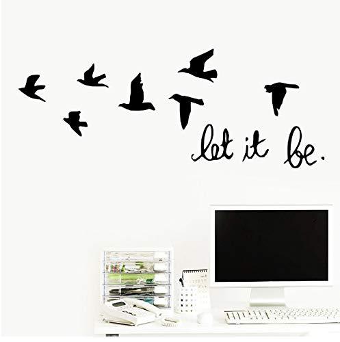 hfwh Muurtattoo, om zelf te maken, citaat Let It Be Life citaat, wandsticker voor slaapkamer, kunst, vinyl wand Decalcoma