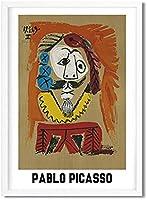パブロピカソ展ポスタープリント抽象ヴィンテージキャンバス絵画現代ギャラリー壁アートピカソアートワーク写真家の装飾40x60cmフレームなしA32