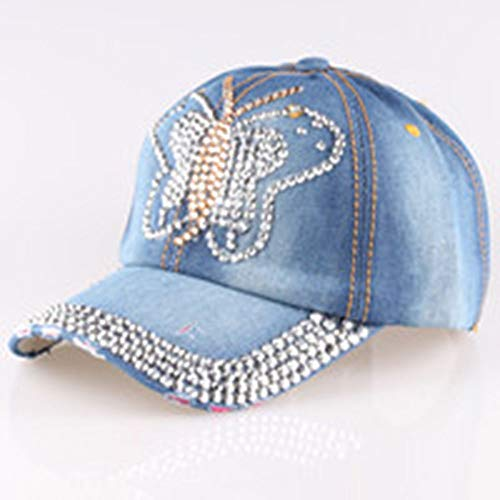 KDXBCAYKI Gorra de béisbol Denim Drill Denim de Mujer Nuevo Punto AliExpress Ebay Dunhuang Taobao Versión Coreana del Sombrero de Diamante Deportivo cómodo Respirable (Color : 2)