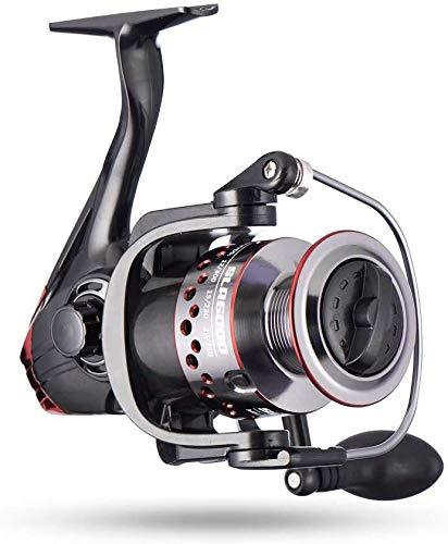 hufut Mulinello da pesca mulinello da spinning con bobina in alluminio CNC, mulinello da spinning leggero, ultra-morbido e potente (3000)
