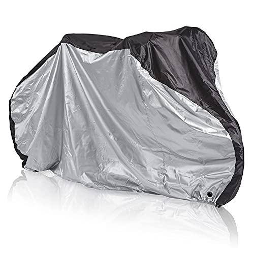 QIQIQ Outdoor Waterproof Bicycle Cover with Lock Holes Storage Bag Anti UV Rain Proof Snow Proof and Dust Proof Large Size