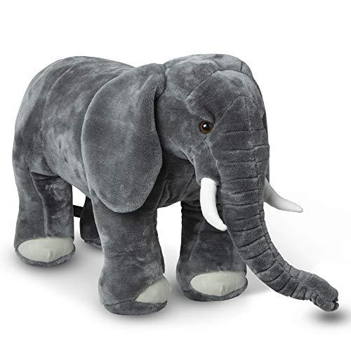 Melissa & Doug Giant Elephant - Lifelike Stuffed Animal (over 3 feet long)