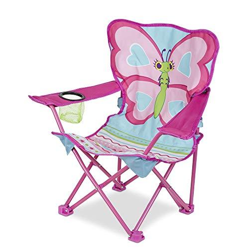 "Melissa & Doug 000772066938 27"" x 25"" x 15"" Cutie Pie Butterfly Camp Chair, 1 EA, Multi"
