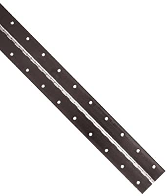 """Steel Continuous Hinge with Holes, Bright Chrome Plated Finish, 0.06"""" Leaf Thickness, 3"""" Open Width, 1/8"""" Pin Diameter, 1/2"""" Knuckle Length, 6' Long (Pack of 1)"""