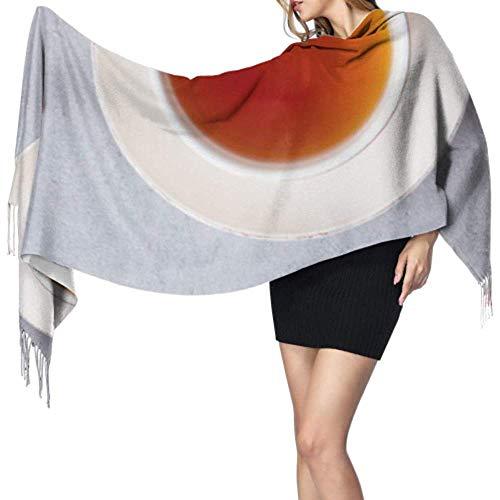 Kevin-Shop 27 'x 77' grote sjaal wikkelen dagelijks kunst zwarte theemok populaire vringsjaal sjaal reizen stijlvolle grote warme deken