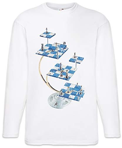 Urban Backwoods Star Chess Long Sleeve T-Shirt De Manga Larga Blanco Talla M