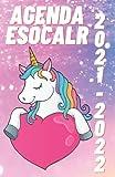 Agenda 2021 2022 escolar: Unicornio niño niña infantil pequeña , colegio primaria , 1 día = 1 página , Agendas Escolares 2021-2022